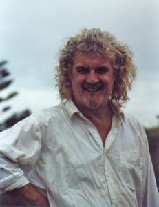 "Billy Connolly in Bermagui during the filming of ""The man Who Sued God"""