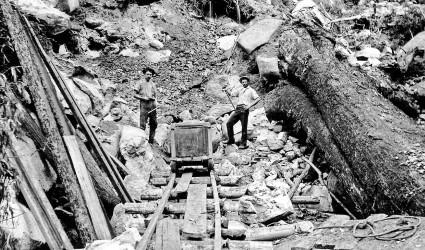 Gold mining on Gulaga ca 1891